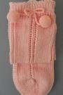 Calcetín de perlé calado alto con bolas de Ysabel Mora (52347)