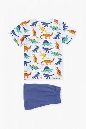 Pijama de manga corta con dinosaurios