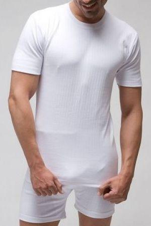 Camiseta de manga corta canalé