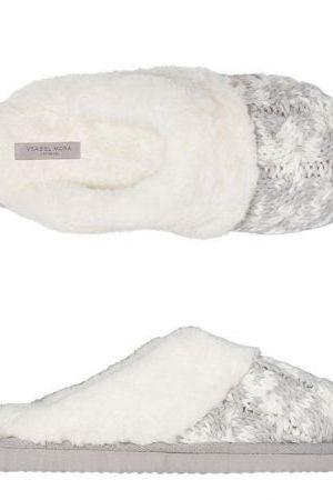 Zapatilla descalza Gris y blanco